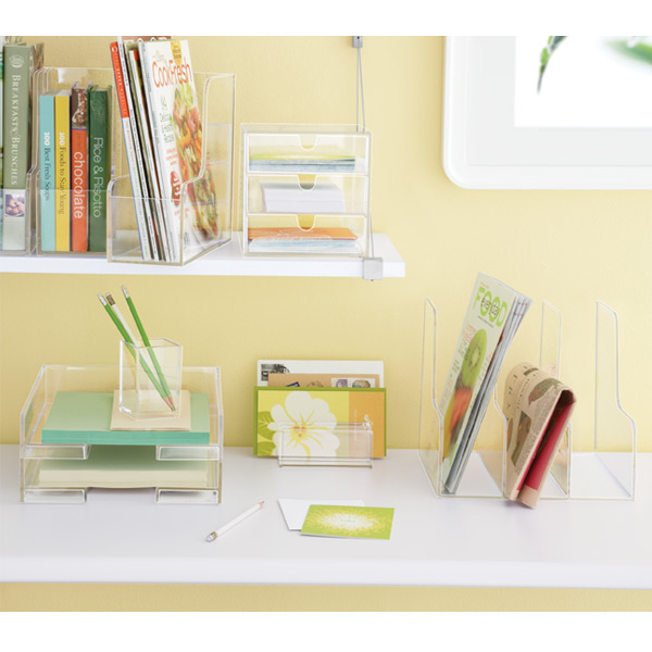 Clear Stacking Letter Tray. Roll Over To Zoom