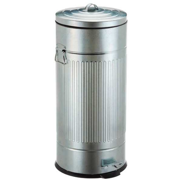 8 gal. New York Galvanized Step Can