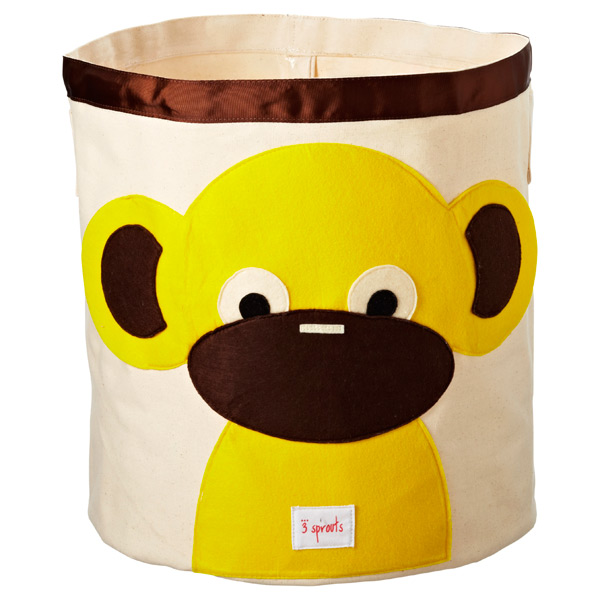 Monkey Canvas Bin Yellow/Brown