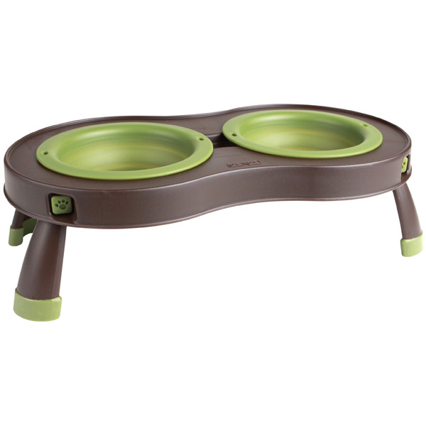 8 oz. Collapsible Pet Feeder Green