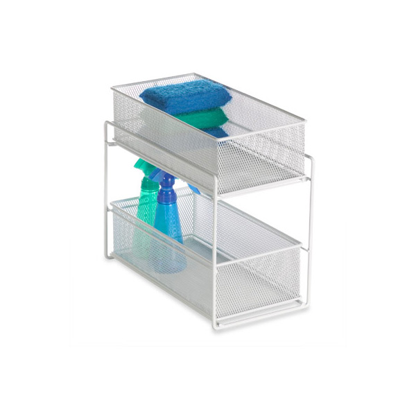 2-Drawer Mesh Organizer White