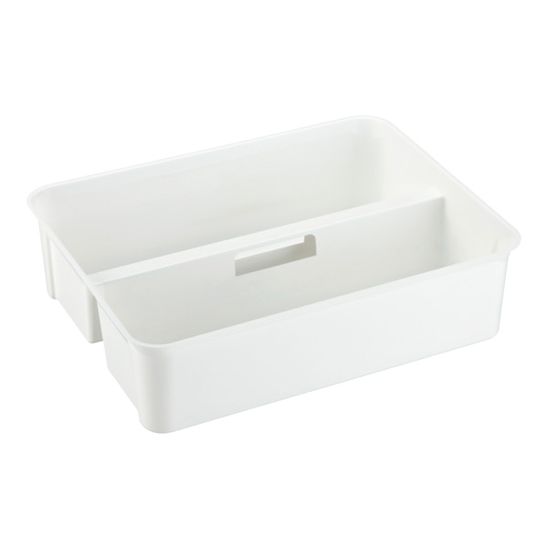 Large Smart Store Handled Tray White