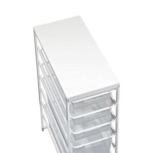 elfa X-Narrow Melamine Top White