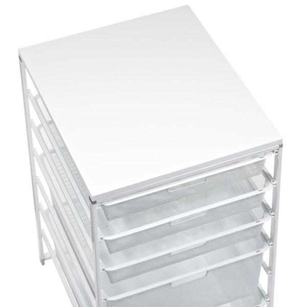 White Elfa Mesh Closet Drawers · U0026 · Elfa Narrow Melamine Top White · U0026 ·  Elfa Medium Melamine Top White ...