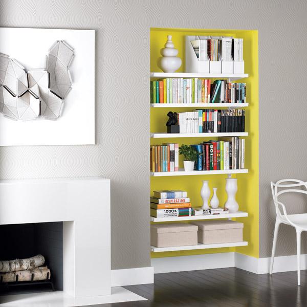 White Elfa Dcor Bookshelves