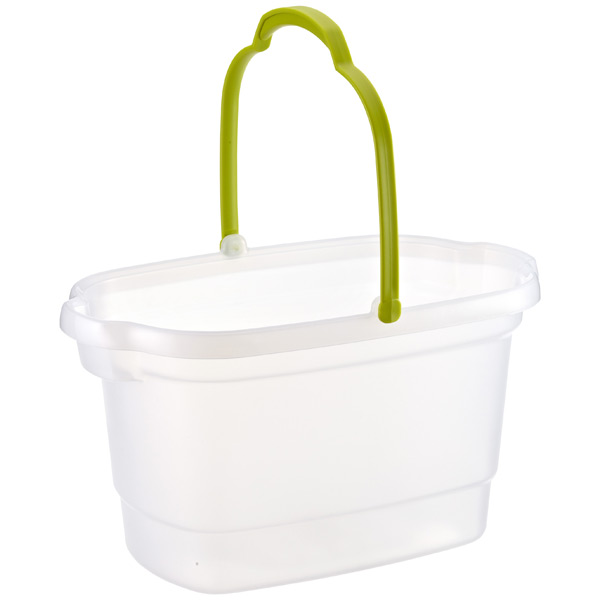 4 gal. Rectangular Bucket w/ Handle Translucent/Lime