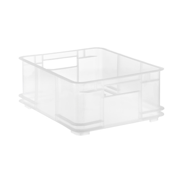 Medium European Commercial Crate Translucent