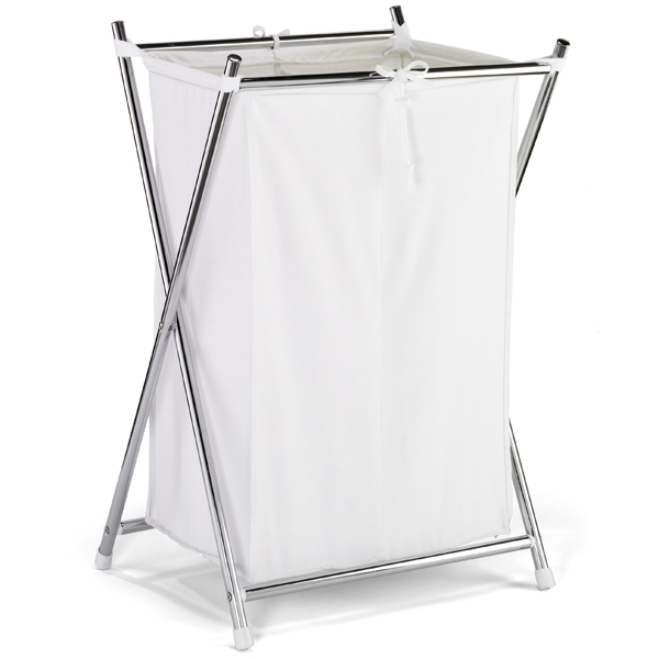 Double Folding Hamper Chrome
