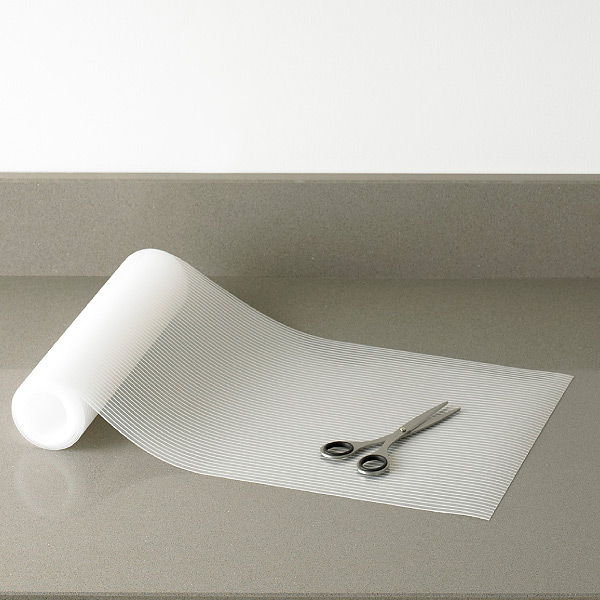 delightful Kitchen Cabinet Mats #10: Clear Plast-O-Mat Ribbed Shelf Liner