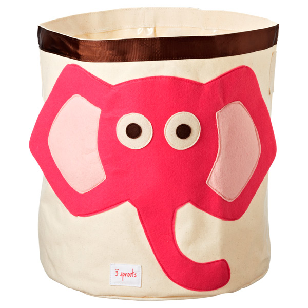Charmant Elephant Canvas Bin By 3 Sprouts