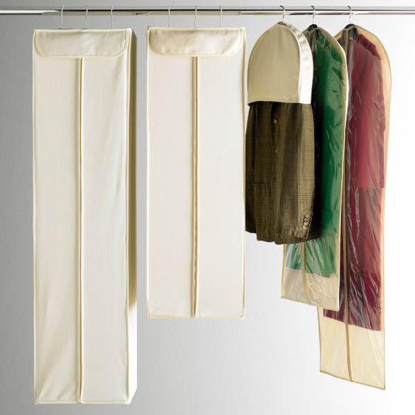 Suit Bags U0026 Dress Bags   Natural Cotton Hanging Storage Bags | The  Container Store