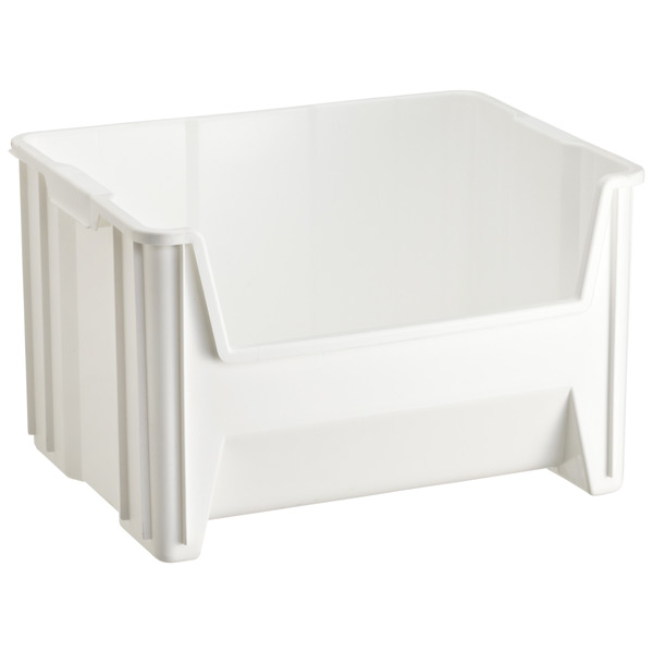 Stacking Recycling Bin White