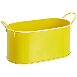 Oval Metal Bin Yellow
