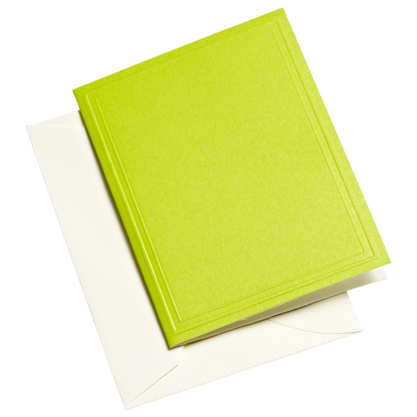 Gift Enclosures Lime Pkg/4