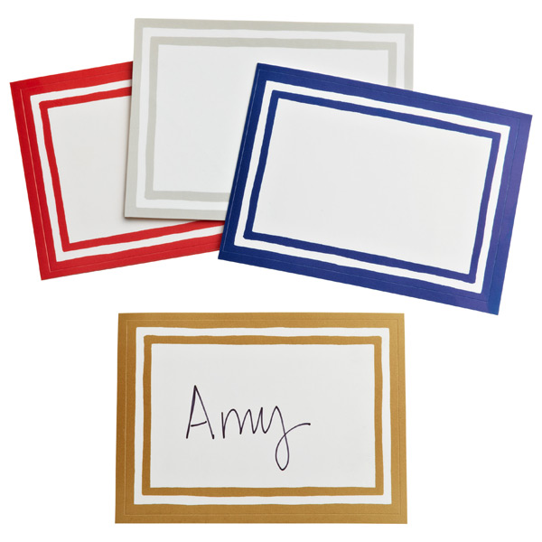Stripe Bordered Gift Labels
