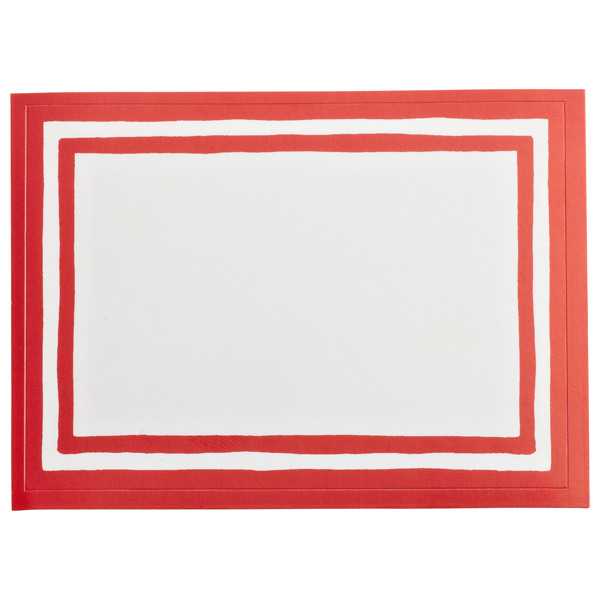 Stripe Bordered Labels Red Pkg/12