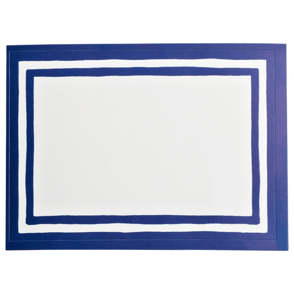 Stripe Bordered Labels Blue Pkg/12