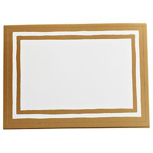 Stripe Bordered Labels Gold Pkg/12
