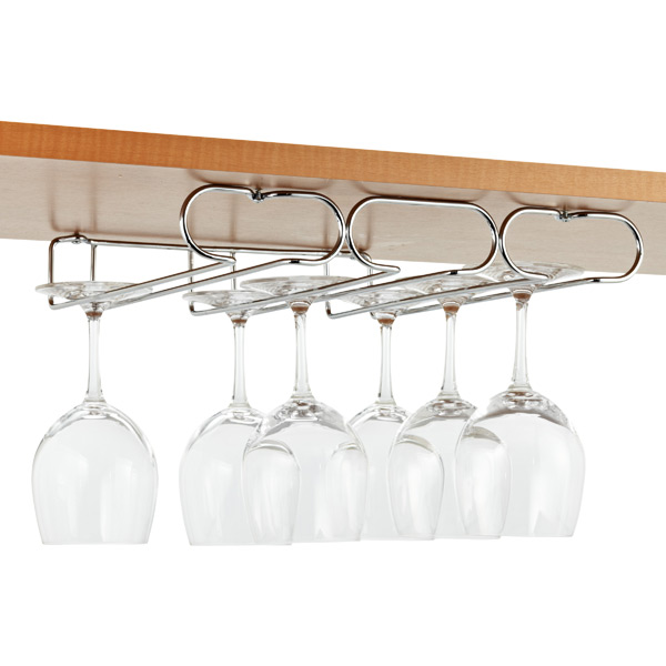Triple Stemware Holder Chrome