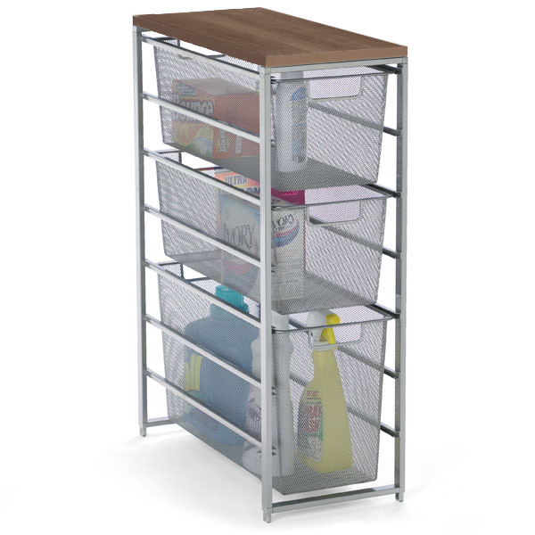 platinum elfa mesh laundry storage the container store. Black Bedroom Furniture Sets. Home Design Ideas