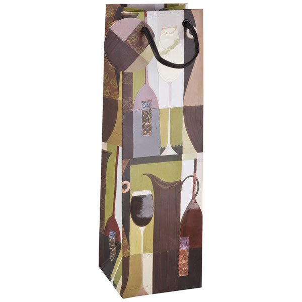 Deco Wine Bottle Tote