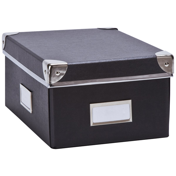 Bigso Snap-Up Check File Box Graphite