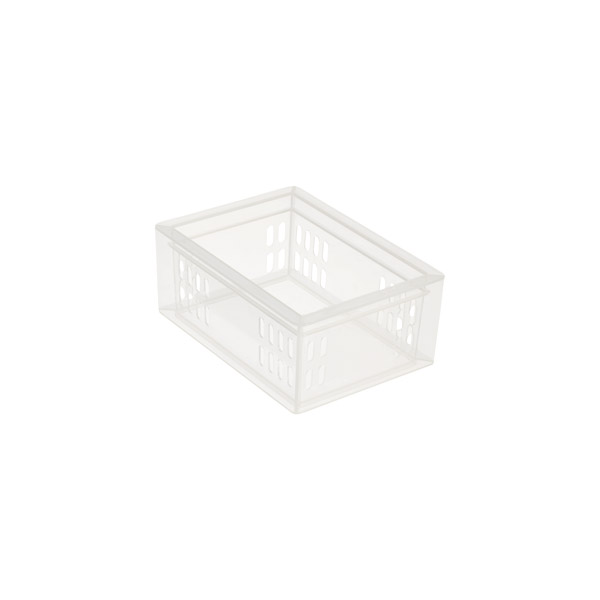 Clear bathroom stackable drawer organizers starter kit the container store for Clear bathroom containers