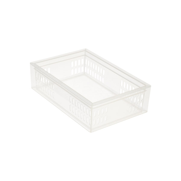 Medium Stacking Organizer Tray Translucent