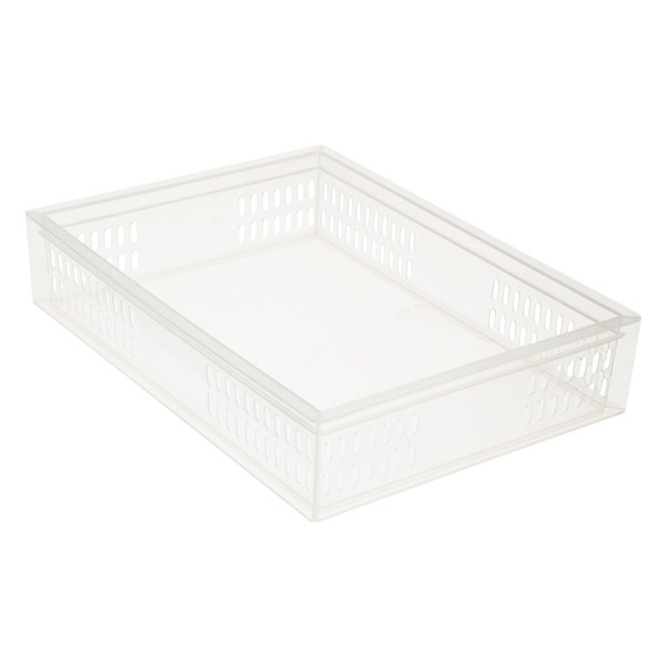 Large Stacking Organizer Tray Translucent