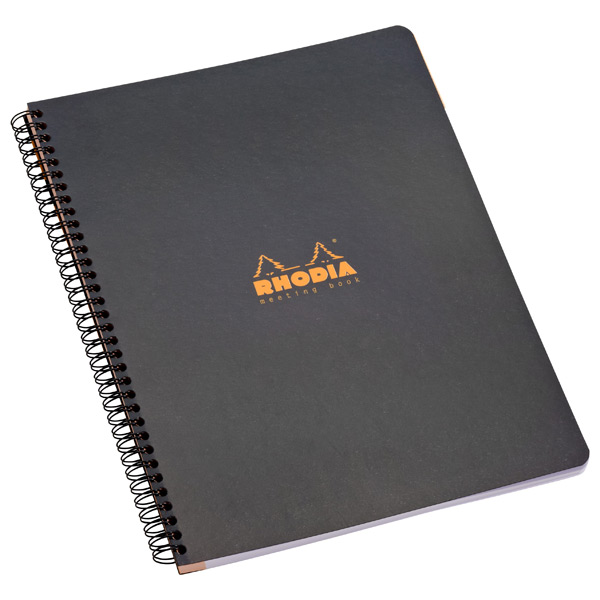 Large Rhodia® Meeting Book Black