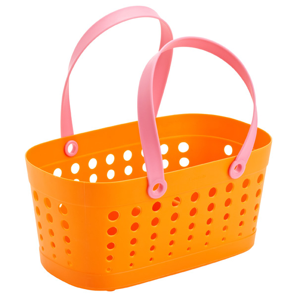 Flexible Shower Tote Orange/Pink