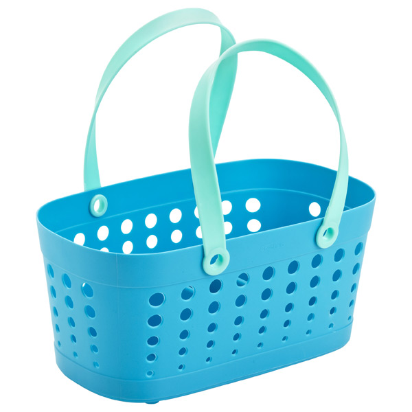 Flexible Shower Tote Blue/Aqua