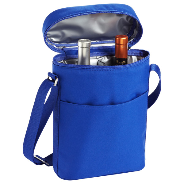 Double Wine Carrier Blue