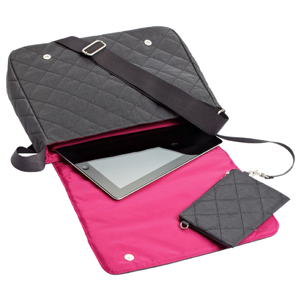 Quilted Carry All Crossbody Charcoal