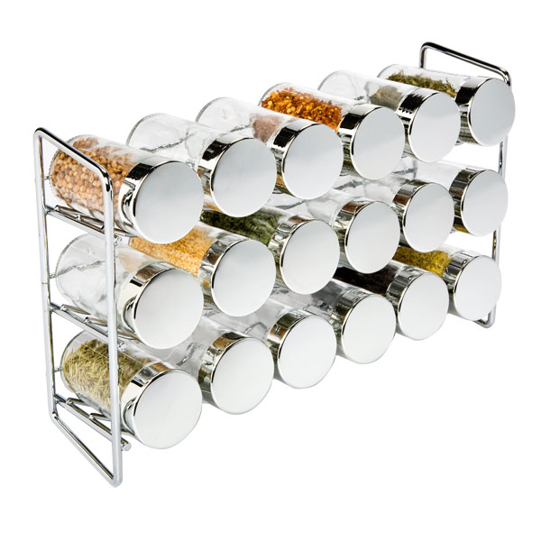 18-Bottle Spice Rack Chrome