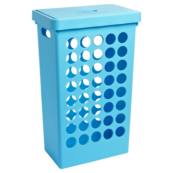 Rectangular Circles Hamper Blue
