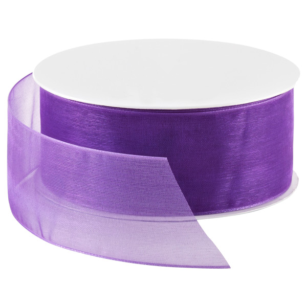 Regal Purple Sheer Ribbon