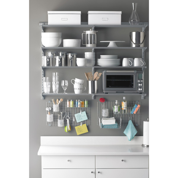 elfa Kitchen Shelves Platinum