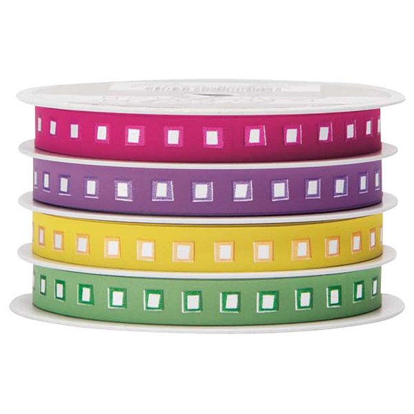 Curling Ribbon Jazzy Squares Bright