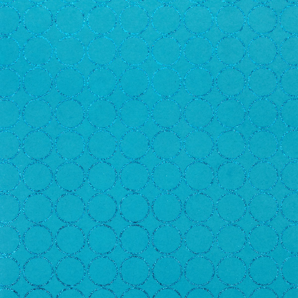 Recycled Wrap Sheets Glitter Circle Turquoise Pkg/2