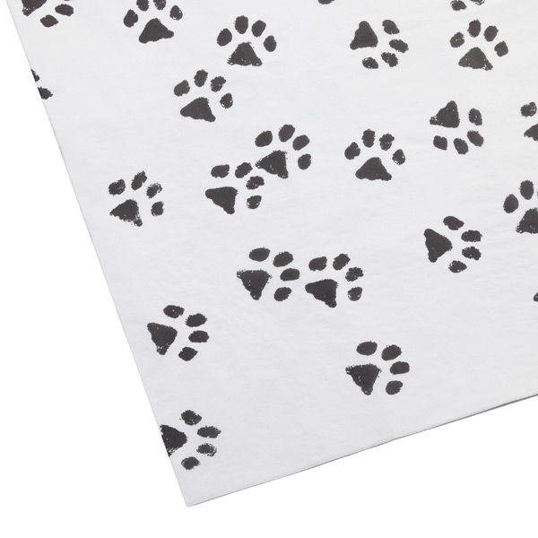 Paw Prints Tissue Sheets Black Pkg/4