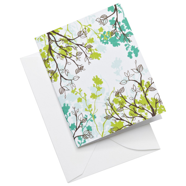 Leaves Gift Enclosures Blue/Green Pkg/5