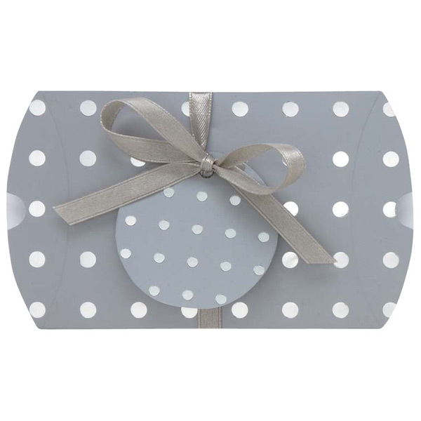 Dot Gift Card Pouch Silver