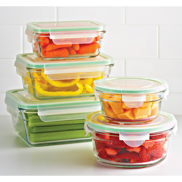 Glasslock Round Food Containers with Lids | The Container