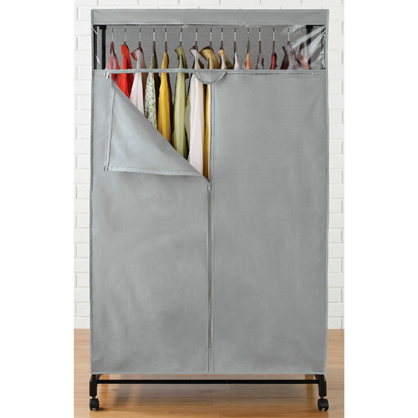 Grey Clothes Closet