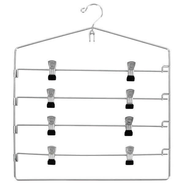 4-Tier Swing-Arm Skirt Hanger Chrome