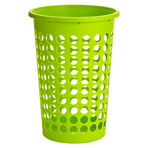 Large Round Circles Hamper Lime