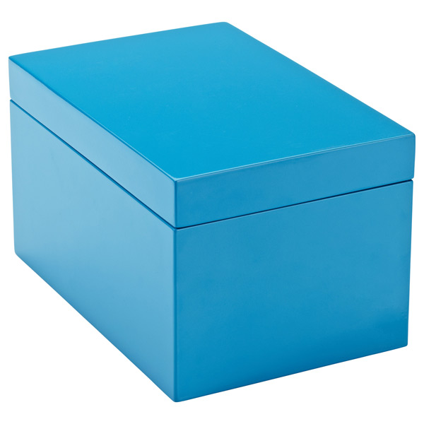 Large Lacquered Rectangular Box Blue