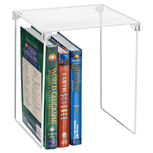 White Mesh Locker Shelf ... - White Mesh Locker Shelf The Container Store