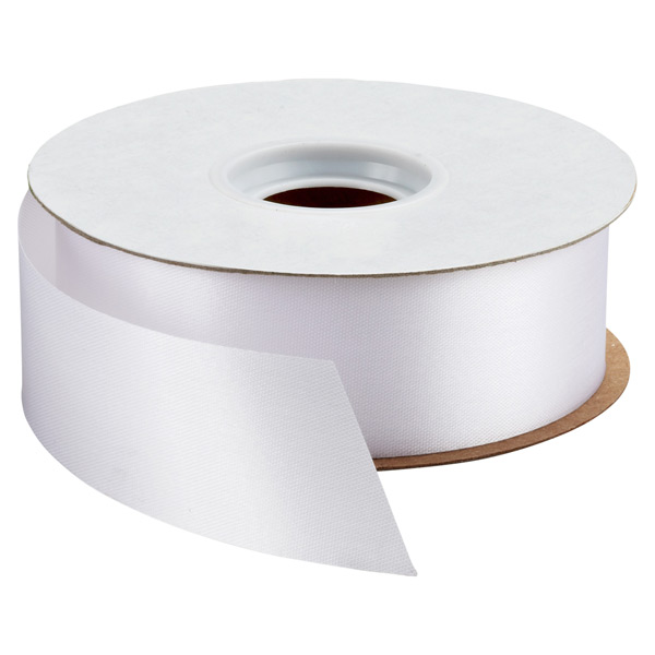 Bulk Satin Ribbon White